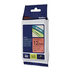 BROTHER P-TOUCH TZ Labelling Tape 8m X 12mm - Black on Red