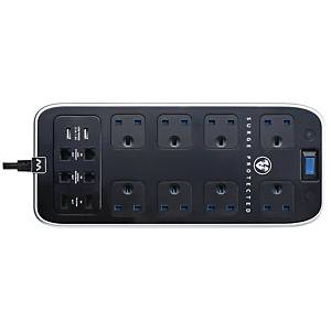 Masterplug Power Centre Surge Protector 8-Way + 2 USB + Telecom