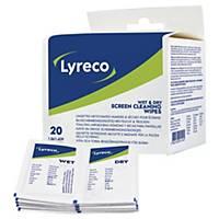 Renseservietter Lyreco, pakke a 20 stk.