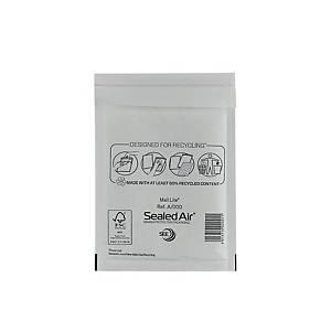 Luftpolstertaschen Mail Lite A/000, Innenmaße: 110x160mm, weiß, 100 Stück