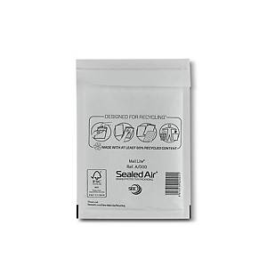 Mail Lite White Bubble Lined Postal Bags A/000 110 X 160mm - Box of 100