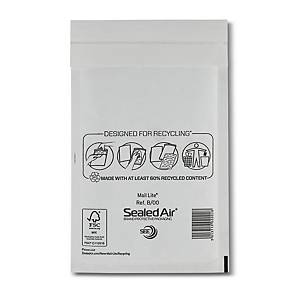 Mail Lite White Bubble Lined Postal Bags B/00 120 X 210mm  - Box of 100