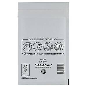 Enveloppes à bulles d air en papier Mail Lite®, 120 x 210 mm, blanches, les 100