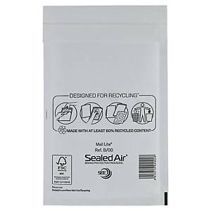 Mail Lite® papieren luchtkussenenveloppen, 120 x 210 mm, wit, doos van 100 stuks