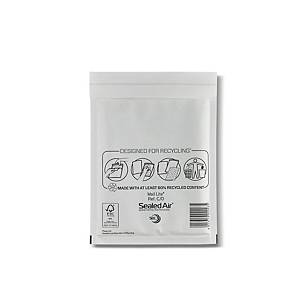 Mail Lite White Bubble Lined Postal Bags C/0 150 X 210mm - Box of 100