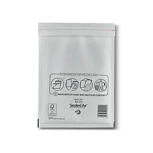 Mail Lite White Bubble Lined Postal Bags D/1 180X260mm Pack of 100