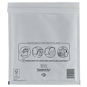 Mail Lite® papieren luchtkussenenveloppen, 220 x 260 mm, wit, doos van 100 stuks