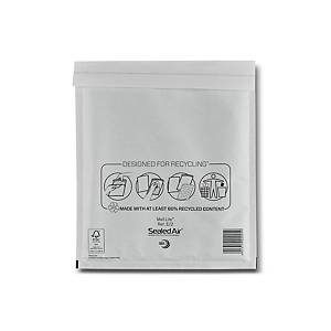 Mail Lite White Bubble Lined Postal Bags E/2  220 X 260mm - Box of 100