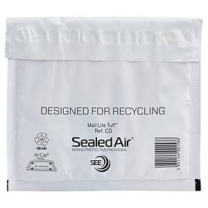 Mail Tuff air bubble envelopes 180x160mm white - box of 100