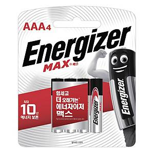 ENERGIZER MAX AAA 건전지 1.5V 4개입