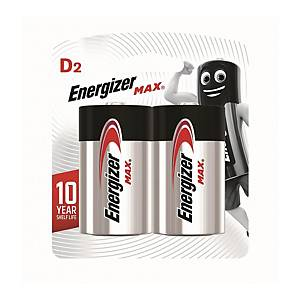 Energizer Alkaline Batteries D - Pack of 2
