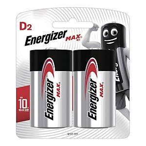 에너자이저 MAX LR20 D형 건전지 2개입