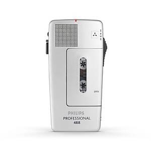 Diktiergerät Philips LFH0488, analog, silber