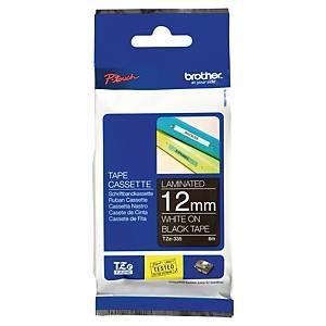 Ruban d étiqueteuse Brother P-touch TZE-335, 12 mm x 8 m, laminé, blanc/noir