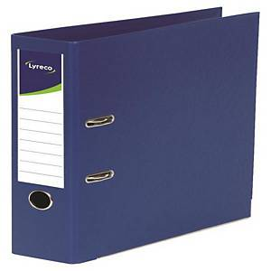 LYRECO L/ARCH FILE 2HOLE A4 80MM ROYAL BLUE