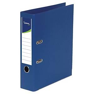 Lyreco ordners met hefboom, A4, PP, rug 80 mm, donkerblauw, per ordner
