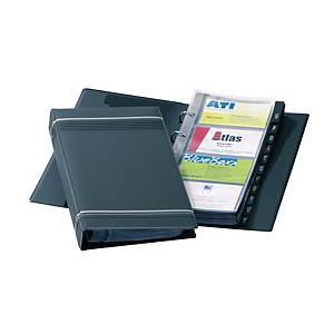 Durable Visifix Business Card Ring Binder File 200 Card Capacity Black
