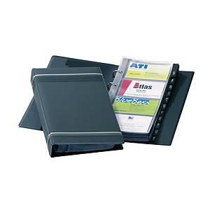 Durable Visifix Business Card Ring Binder File 200 Card Capacity Black
