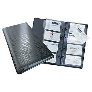 VISIFIX BLACK BUSINESS CARD RING BINDER FILE - 200 CARD CAPACITY (INCLUDES 100)