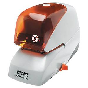 Agrafeuse électrique Rapid 5050 - capacité 50 feuilles - blanc/orange