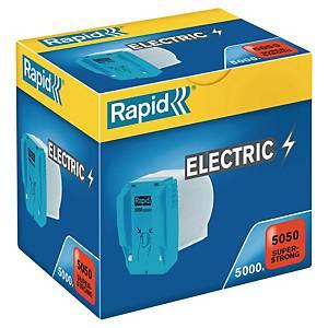 Cartouche d'agrafes Rapid R5050 pour agrafeuse électrique, les 5.000 agrafes