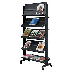 Free standing literature display 5 shelves for 15 A4-documents