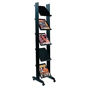 Porte-brochures Paperflow, étagère 5 x A4 , noir
