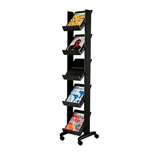 Paperflow mobiele display Compact, 5 legplanken, voor 5 A4 documenten