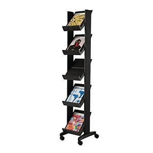 FREE STANDING LITERATURE HOLDER DISPLAY STAND - 5 SHELVES FOR A4 DOCUMENTS