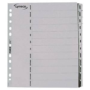 Lyreco Mylar Register Jan - Dez (deutsch), A4, weiß
