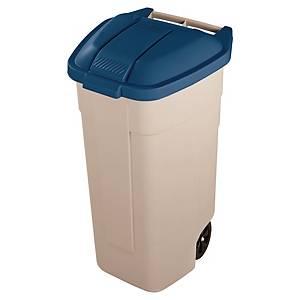 Contentor de reciclagem Rubbermaid - 100 L - bege