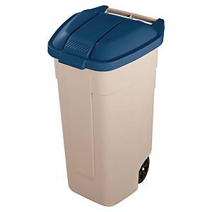 Contenedor reciclaje Rubbermaid - 100 L - beige