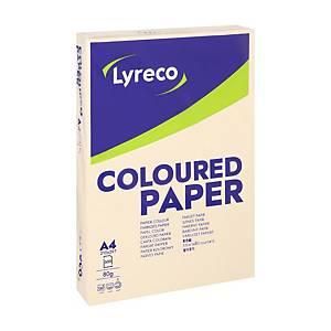Lyreco gekleurd A4 papier, 80 g, ivoor, per 500 vel