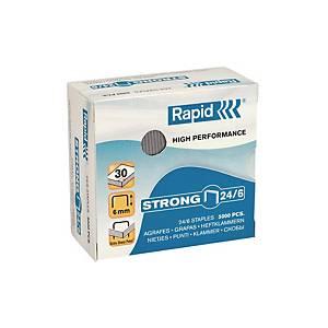Rapid Galvanized Staples - Capacity 30 Sheets - Box of 5000
