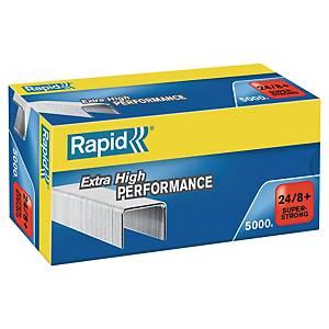 Rapid staples 24/8+ galvanized 50 sheets - box of 5000
