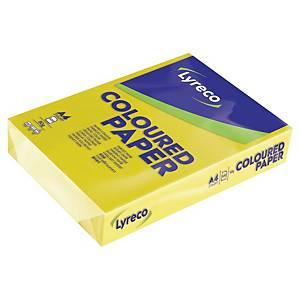 Färgat papper Lyreco, A4, 80g, solgult, förp. med 500 ark