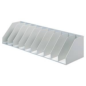Paperflow lever arch file holder with 9 compartments grey