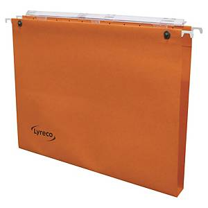 Dossier suspendu pour tiroir Lyreco - kraft - dos 15 mm - orange - par 25