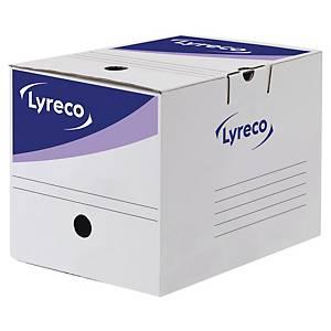 Boîte d archives Lyreco - archivage progressif automatique - dos 25 cm - blanche