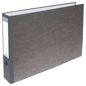 Exacompta Prem Touch A3 Landscape Lever Arch File, 80mm Spine, Marble Grey