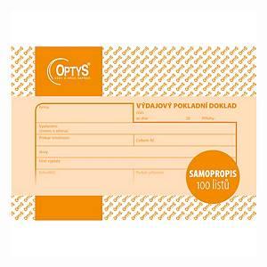 Výdajový pokladní doklad NCR Optys A6, blok 100 listů