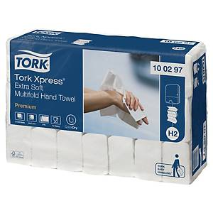 Skládané utěrky Tork 100297 premium extra jemné, 21 balení po 100 utěrkách