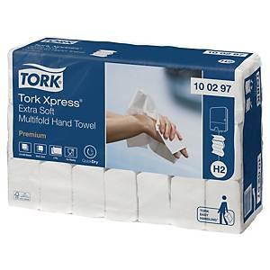Pack 21 embalagens de toalhas de mãos Tork H2 - 100 folhas - W - Folha dupla