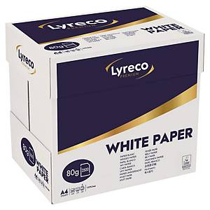 Lyreco Premium white paper A4 80g - box of 2500 sheets