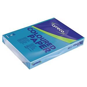Papier couleur Lyreco A3 - 80 g - bleu intense - ramette 500 feuilles