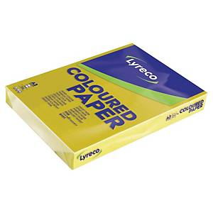 Farget papir Lyreco, A3, 80 g, solgul, pakke à 500 ark