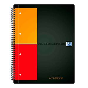 Oxford International Activebook spiraalschrift A4+, geruit 5 x 5 mm, 80 vellen