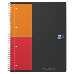 Cahier spirale Oxford Activebook A4+ - 160 pages - quadrillé