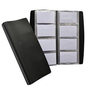 Porte-cartes de visite Oxford souple 140x275 mm, noir
