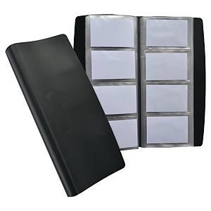 Elba käyntikorttikansio 240 kortille pehmeä musta